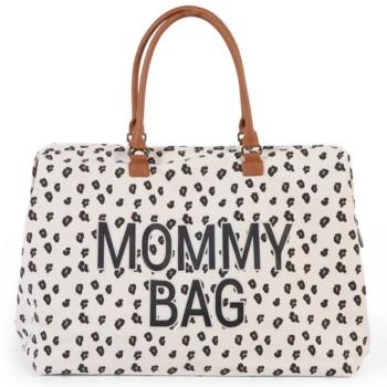 Childhome τσάντα αλλαγης mommy bag big canvas leopard - Αξεσουάρ - Τσάντα - creamsndreams.gr