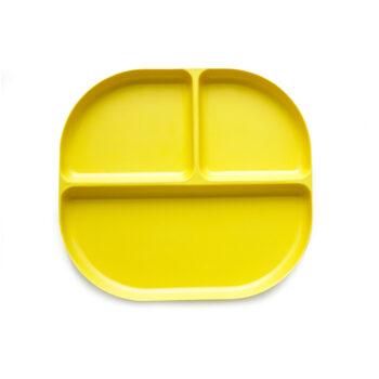 Ekobo bamboo δίσκος φαγητού με χωρίσματα κίτρινο 1 - Αξεσουάρ Κουζίνας - creamsndreams.gr