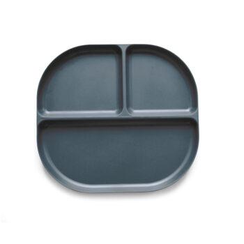 Ekobo bamboo δίσκος φαγητού με χωρίσματα σκούρο γκρι 1 - Αξεσουάρ Κουζίνας - creamsndreams.gr