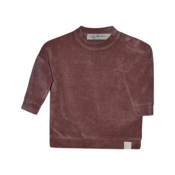 Ash velour sweater dark ginger
