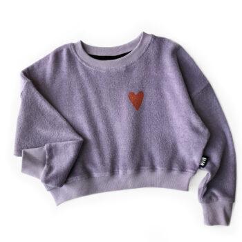 Little Man Happy Love terry cropped sweater 1 - Παιδικό ρούχο - creamsndreams.gr