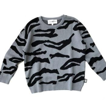 Little Man Happy Tiger Knit Sweater - Παιδικό ρούχο - creamsndreams.gr