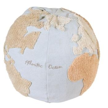 Lorena Canals Πουφ Παγκόσμιος Χάρτης 45Χ50 11 - Διακόσμηση - μαξιλάρια - creamsndreams.gr