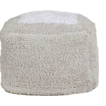 Lorena Canals Πουφ Marshmallow Τετράγωνο Pearl Grey 18X30X39 - Διακόσμηση- Μαξιλάρια - creamsndreams.gr