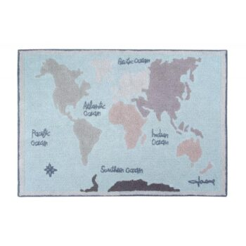 Lorena Canals Χαλί Δωματίου Vintage Map. 140 X 200 Εκ - Διακόσμηση - Χαλιά - creamsndreams.gr