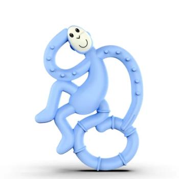 Matchstick Monkey Mini Μασητικό Light Blue- Αξεσουάρ - Βρεφικά - creamsndreams.gr