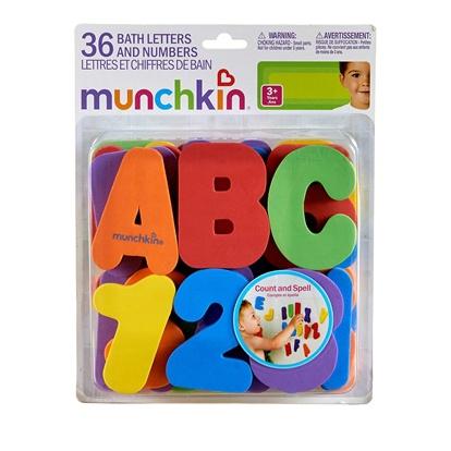 Munchkin Learn Εκπαιδευτικό Παιχνίδι Μπάνιου Με Γράμματα & Αριθμούς 3- Παιχνίδια - Μπάνιου - creamsndreams.gr