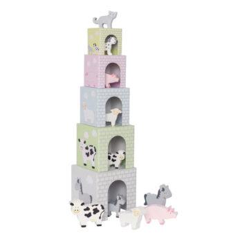 jabadabado Στοιβαζόμενοι κύβοι με ζωάκια Jabadabado 3 - Παιχνίδια - Ξύλινα - creamsndreams.gr