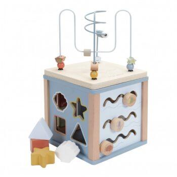 little dutch Ξύλινος κύβος δραστηριοτήτων με προγραφή - Παιχνίδια - Ξύλινα - creamsndreams.gr
