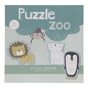 little dutch Παζλ 6 Ζωάκια - Παιχνίδια - Ξύλινα - creamsndreams.gr