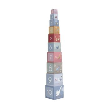 little dutch Πυραμίδα ταξινόμησης little goose- Παιχνίδια - Ξύλινα - creamsndreams.gr
