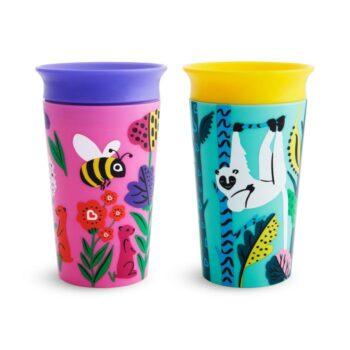 munchkin miracle 2pk sippy cup 266 ml lemur bee - αξεσουάρ - Κουζίνα - creamsndreams.gr