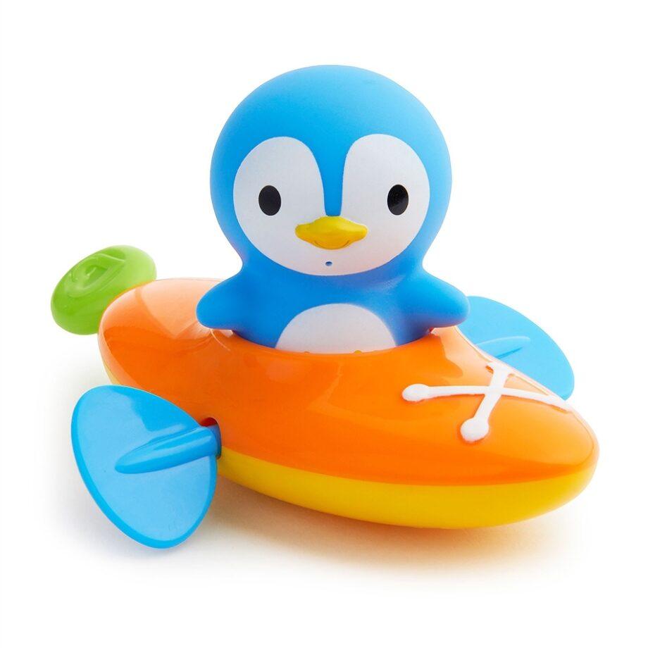 Munchkin παιχνίδι για το μπάνιο Paddlin Penguin ( κανό με πιγκουίνο )- Παιχνίδια - Μπάνιου - creamsndreams.gr