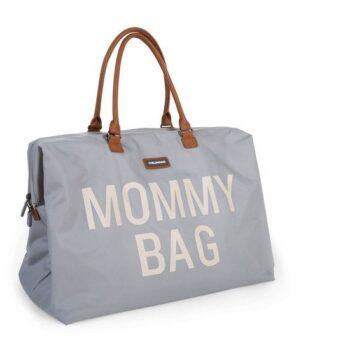 Childhome Τσάντα Αλλαγής Mommy Bag Big Light Grey off white - Αξεσουάρ - Τσάντες - creamsndreams.gr