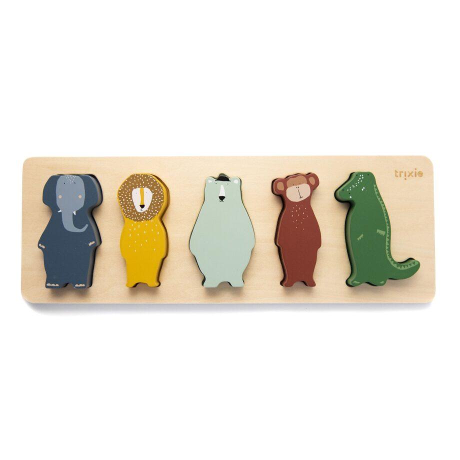 Trixie Wooden Shape puzzle - Παιχνίδια- Ξύλινα - creamsndreams.gr