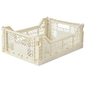 aykasa medium folding storage cream - Διακόσμηση - Αποθήκευσης - creamsndreams.gr