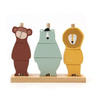 trixie wooden animal puzzle stacker -Παιχνίδια - Ξύλινα -creamsndreams.gr